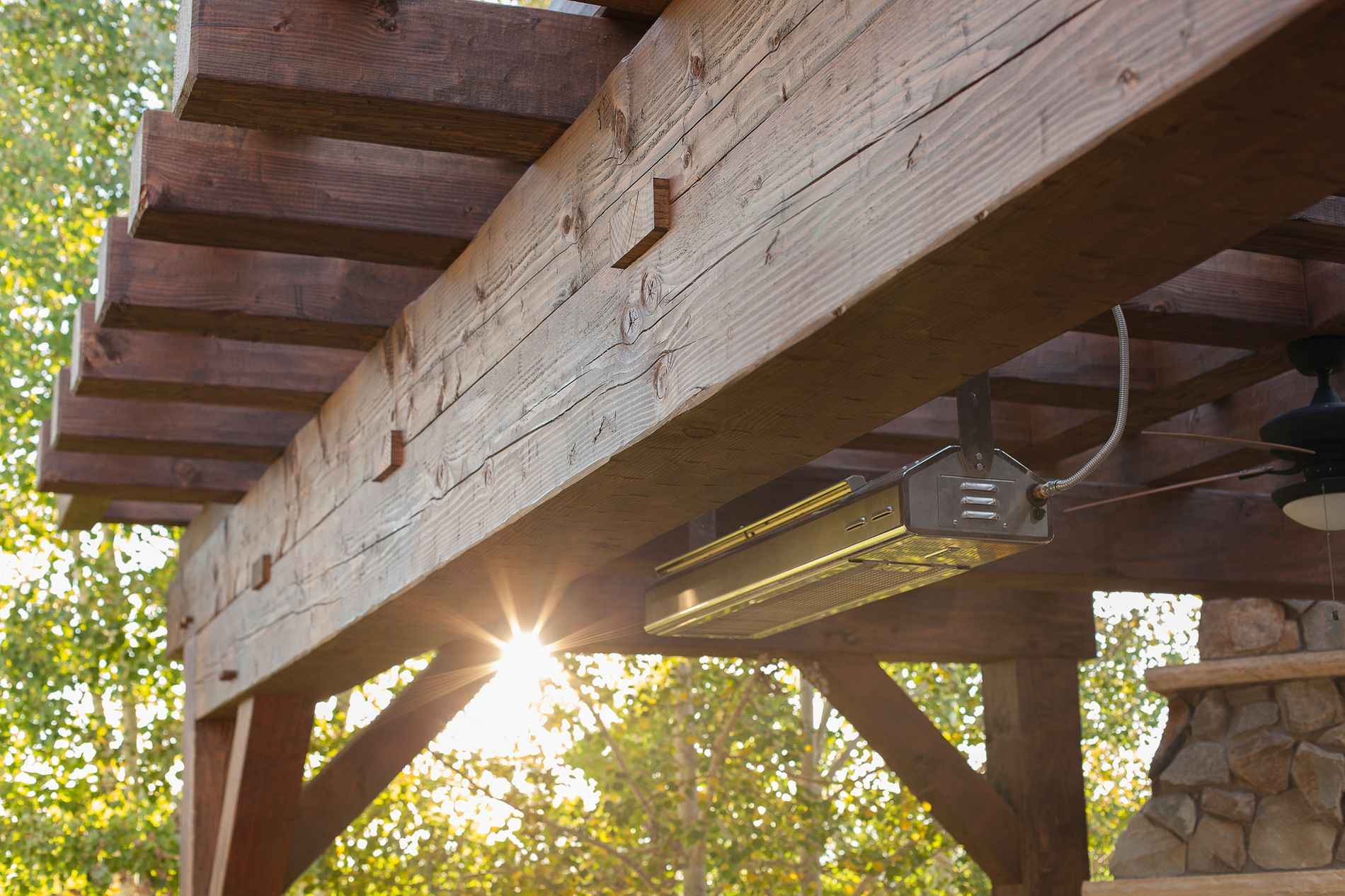 Keyed Beams and infrared heaters