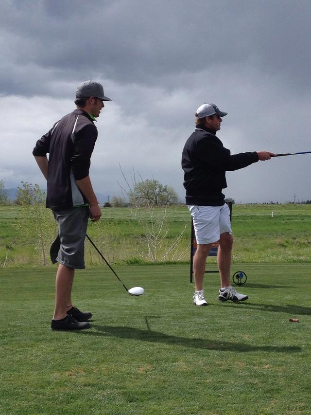 Tim and Mitch on the tee box