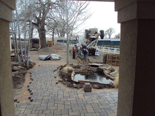 Paver front sidewalk installation