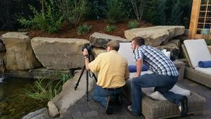 Photographer shooting a Lindgren Landscape project