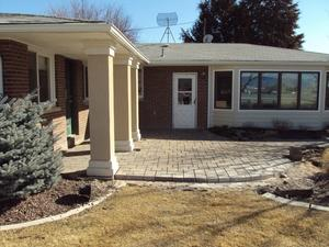 New paver patio installation