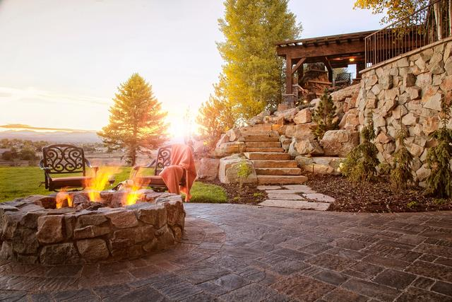 Fire Pit with Paver Patio