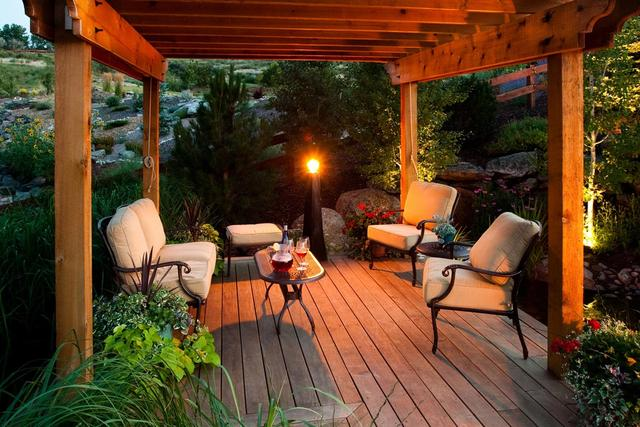 Deck with shade structure