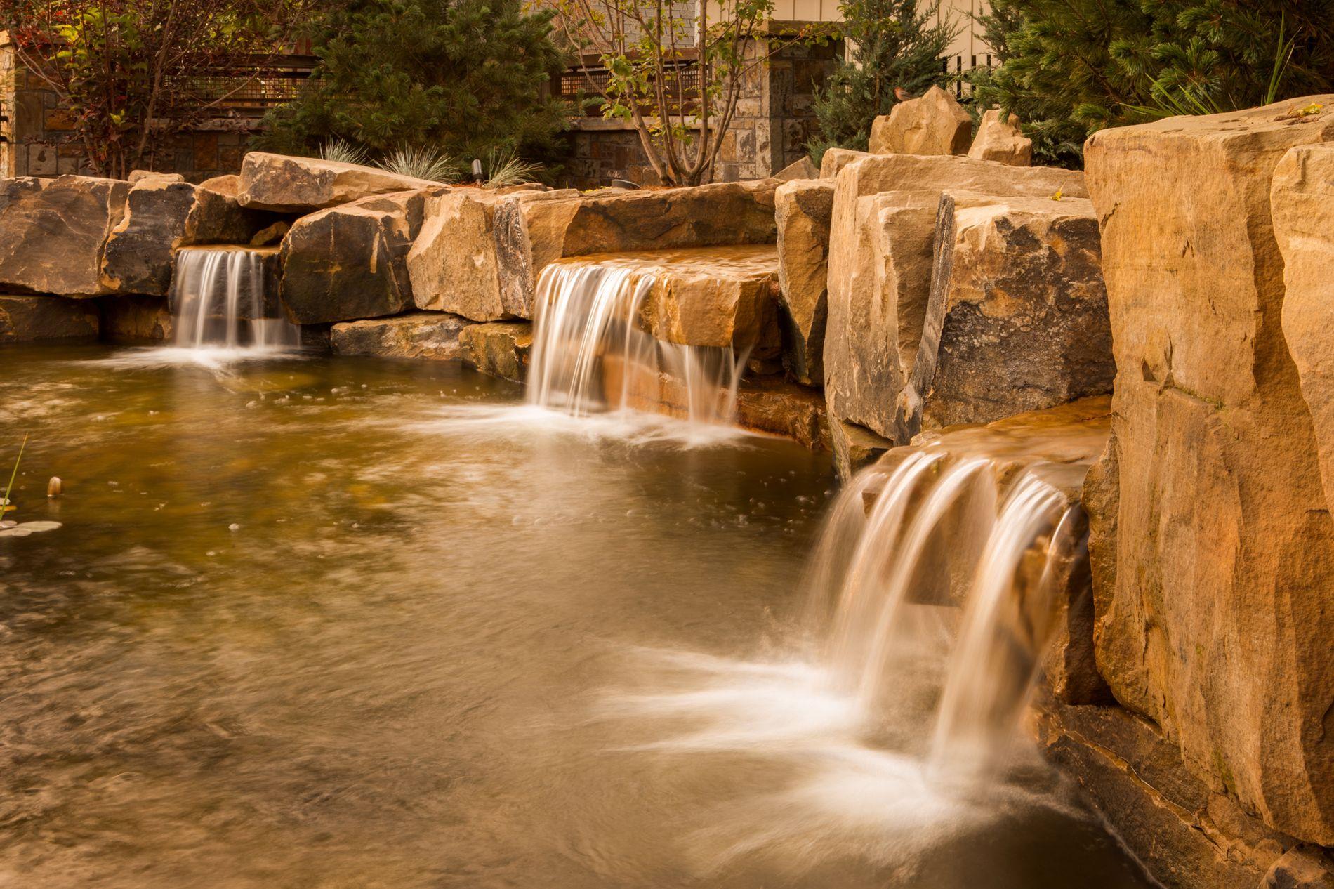 Custom Built Stone Water Falls
