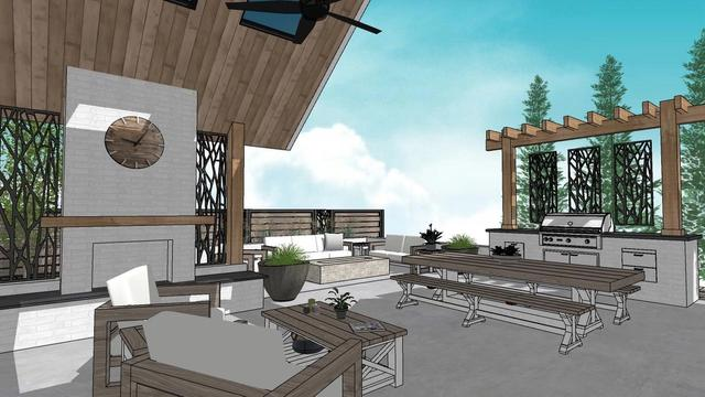 Outdoor Living 3D Rendering