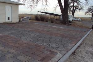 Paver driveway is installed