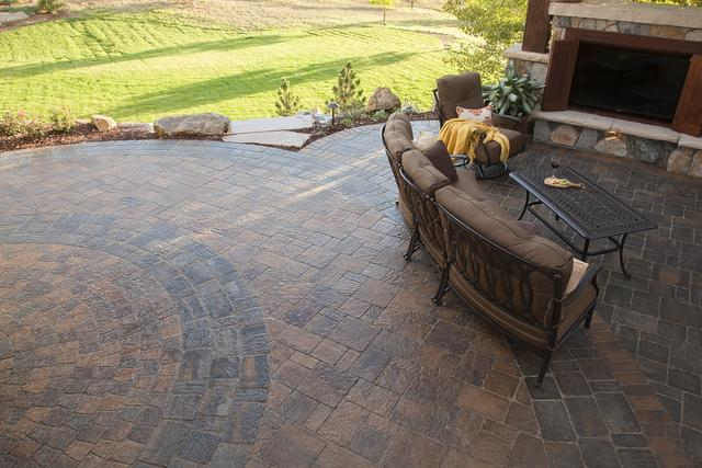 Paver Patio with Couch
