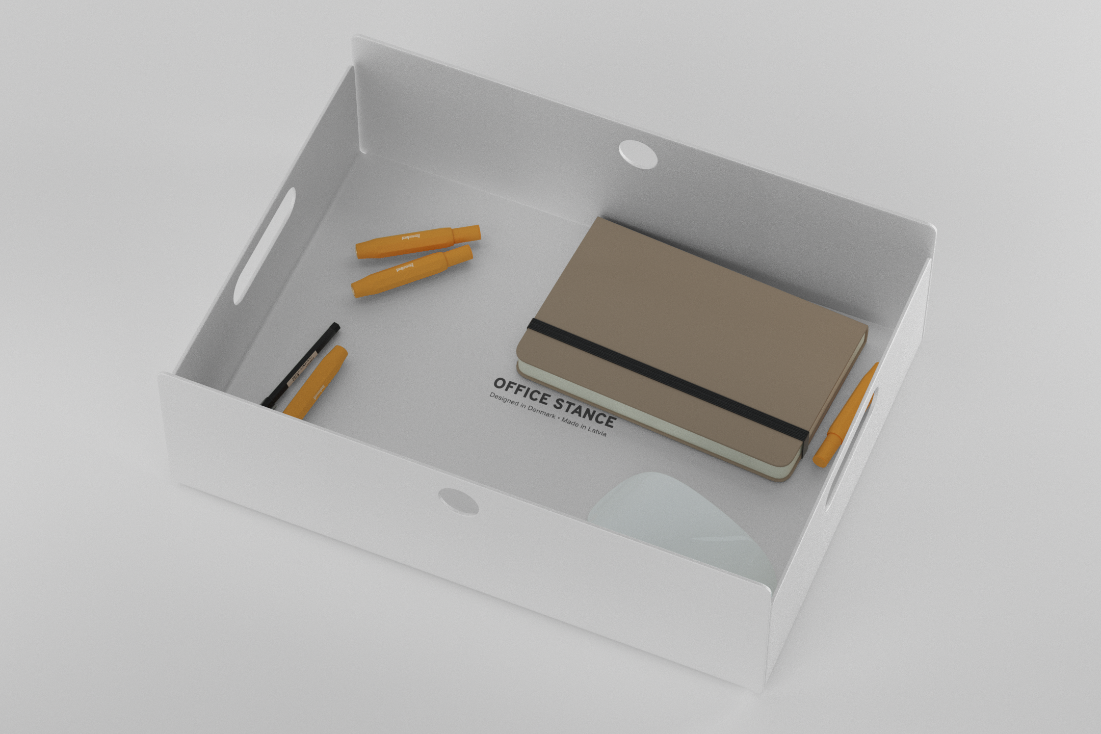The Drawer - white with items in it