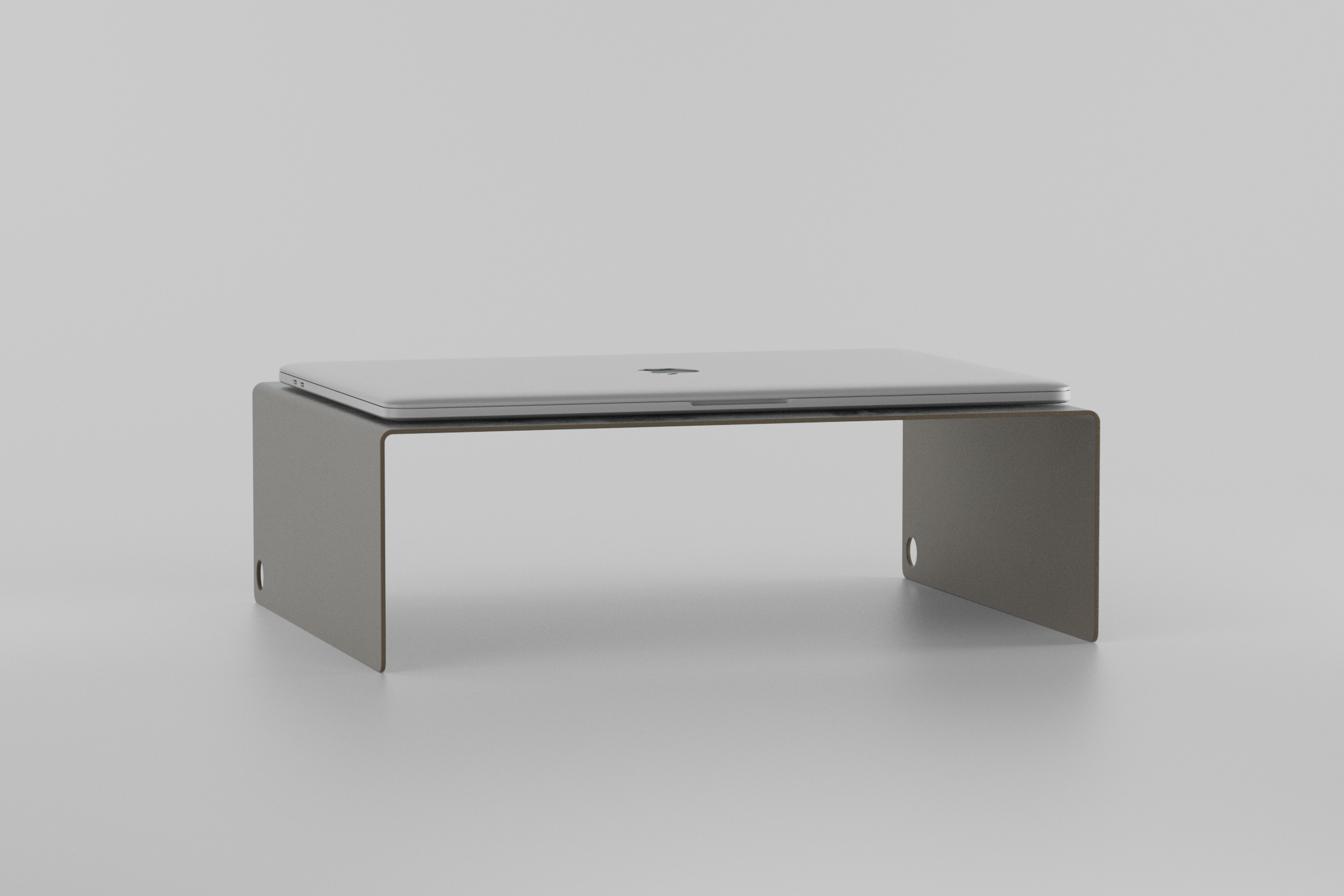 The Laptop Stand - grey beige with laptop on it