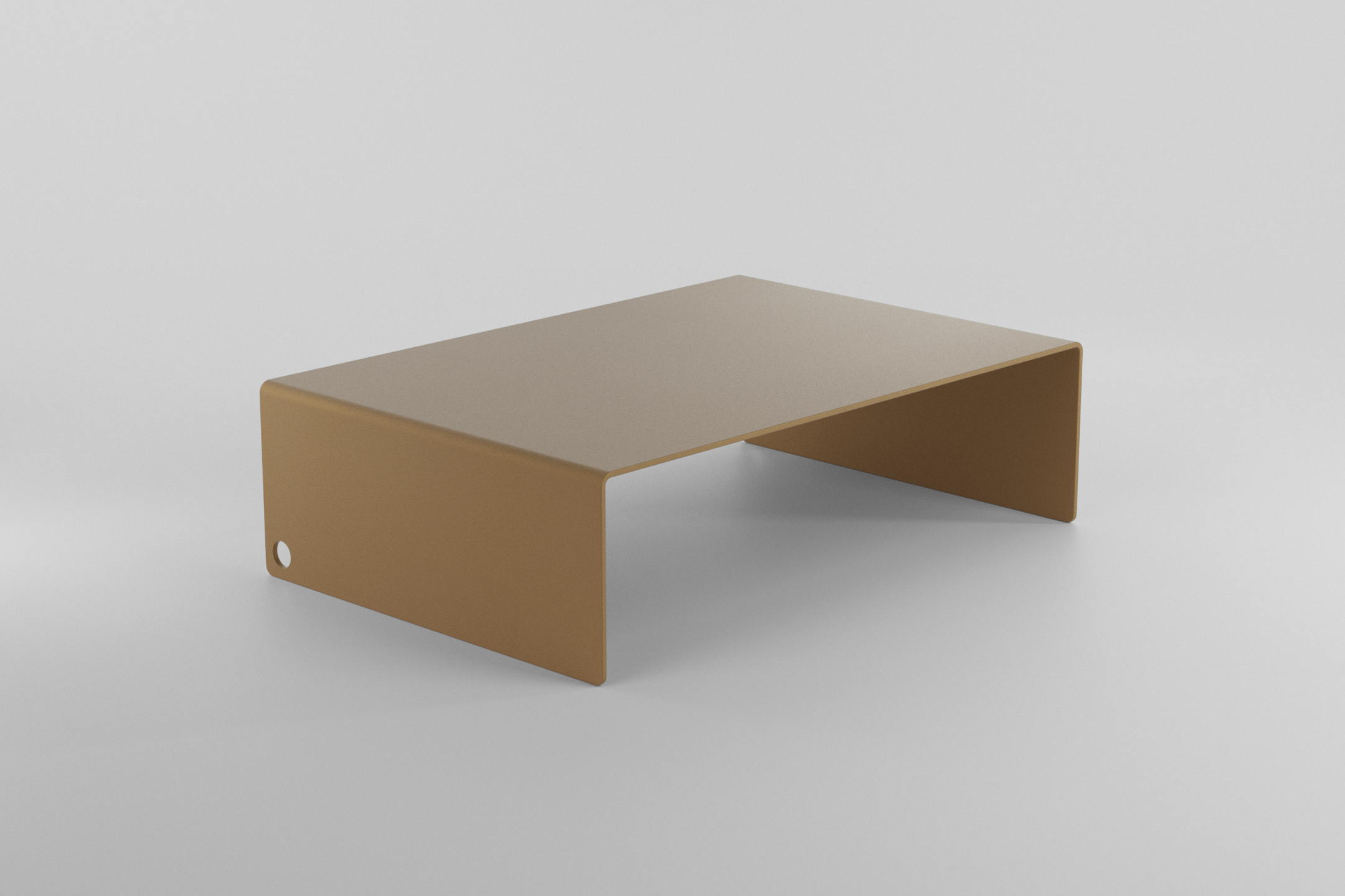 The Monitor Stand - Brown beige
