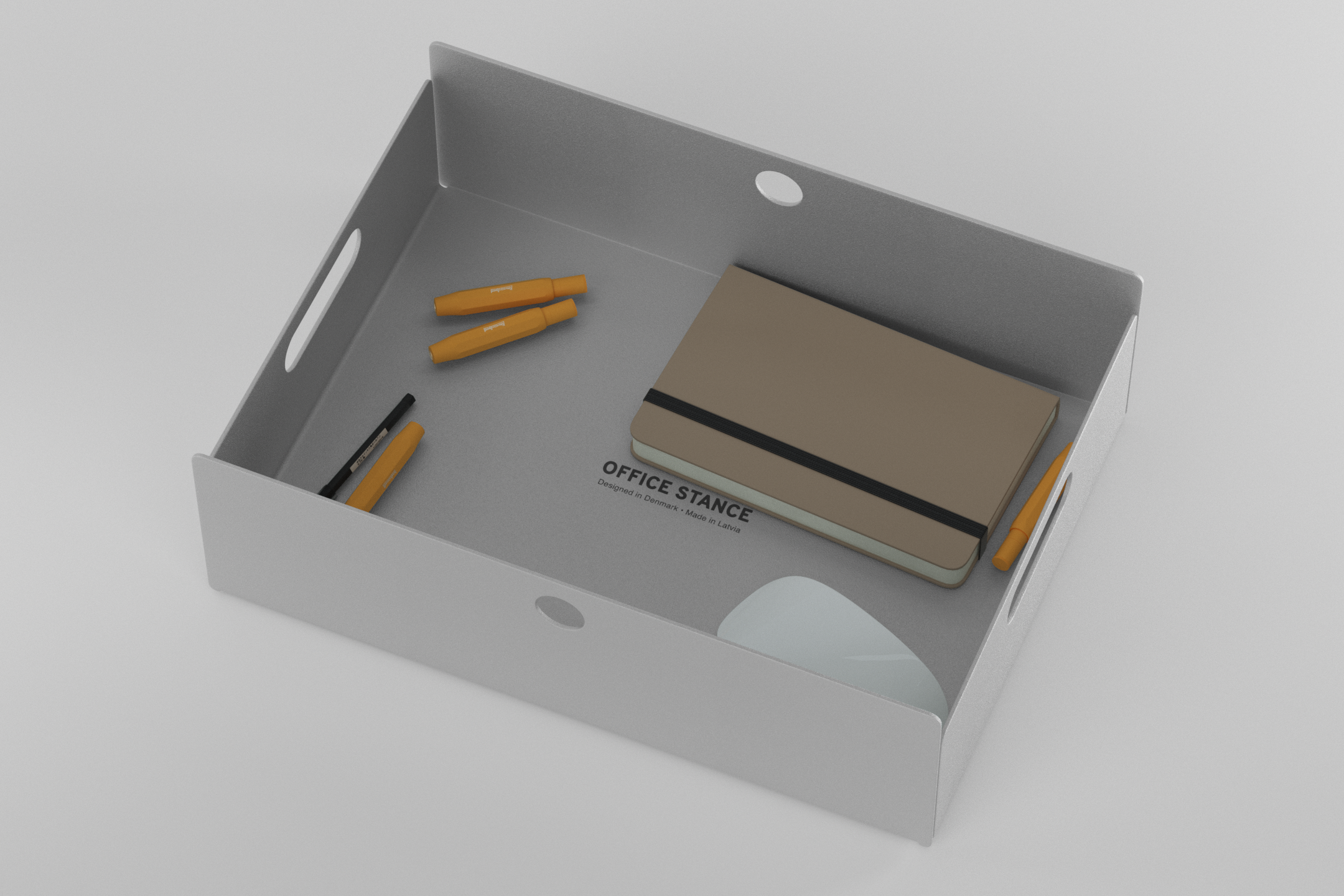 The Drawer - light grey with items in it
