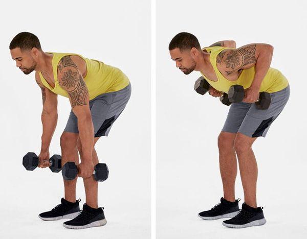 bent over row demonstration | push pull legs