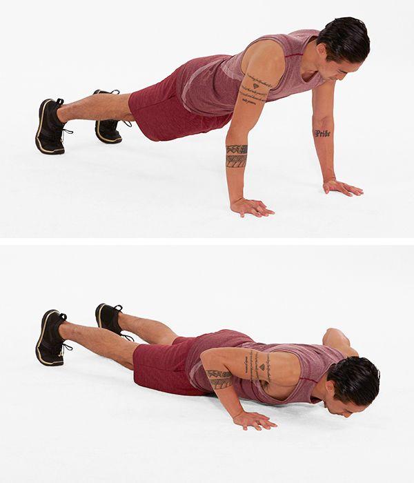 push up demonstration | push pull legs