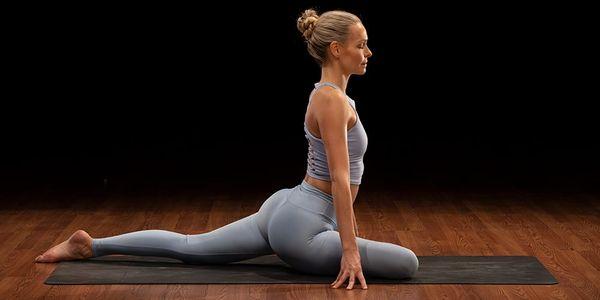 pigeon pose demonstration | yoga for athletes