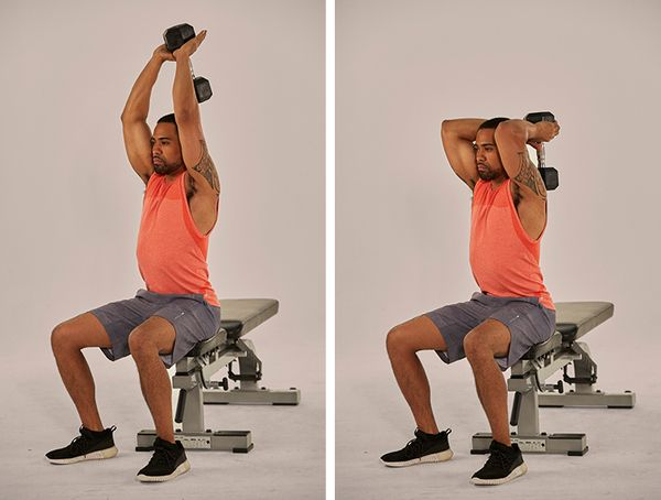 overhead triceps extension demonstration | push pull legs