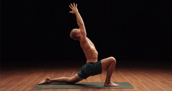 low lunge pose demonstration | yoga for athletes