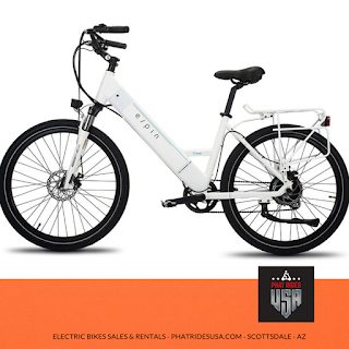 White electric bike