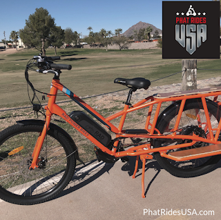 Orange rad wagon electric bike