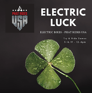 Electric luck event poster