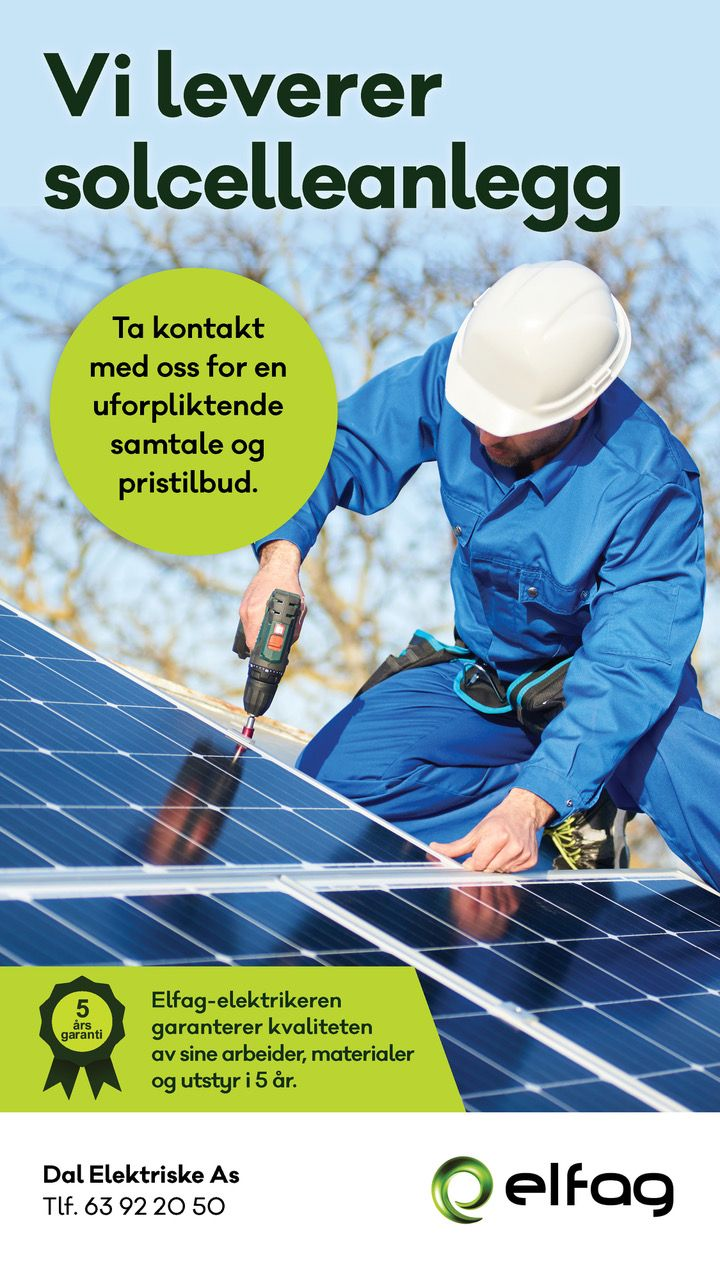 Reklameplakat for solcelle