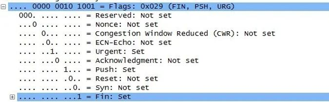 Christmas Tree Packet flags in Wireshark