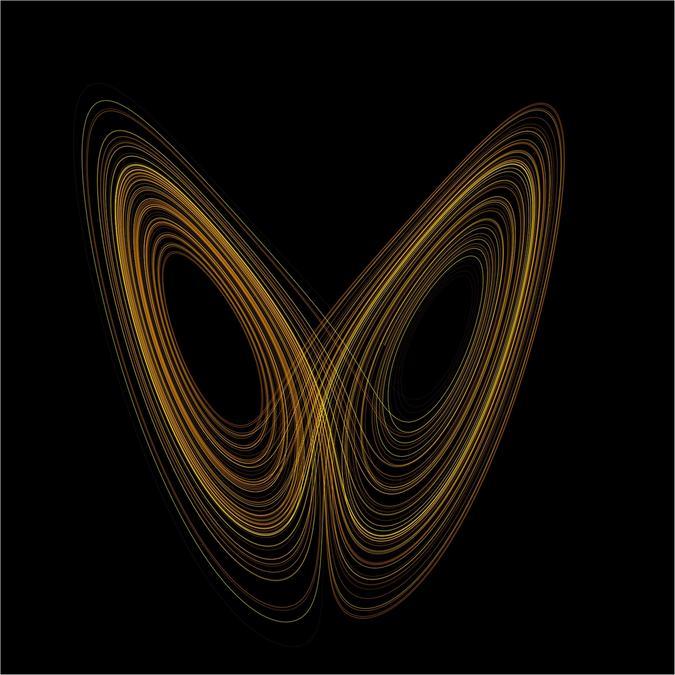 Lorenz butterfly attractor