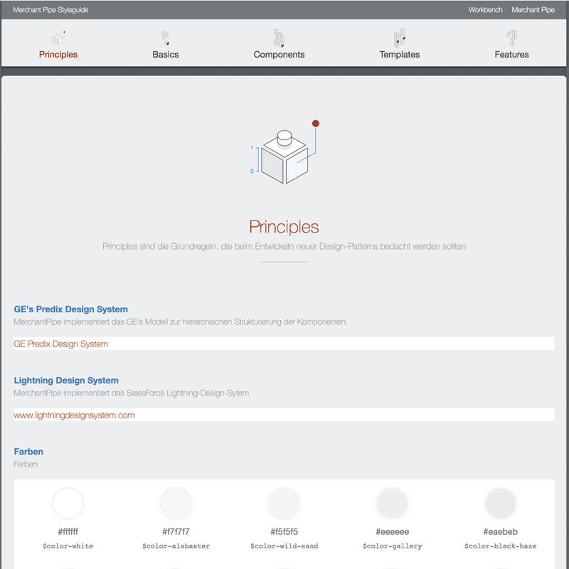 Screenshot einer Pattern Library