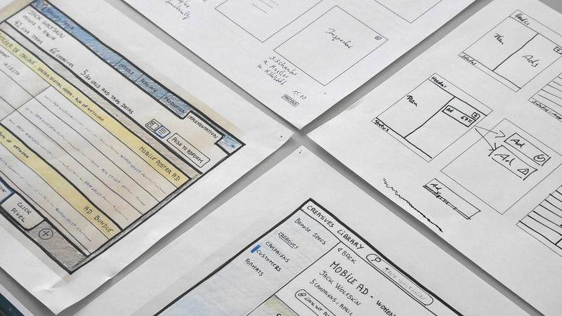Bild von Zeichnungen des User Interface