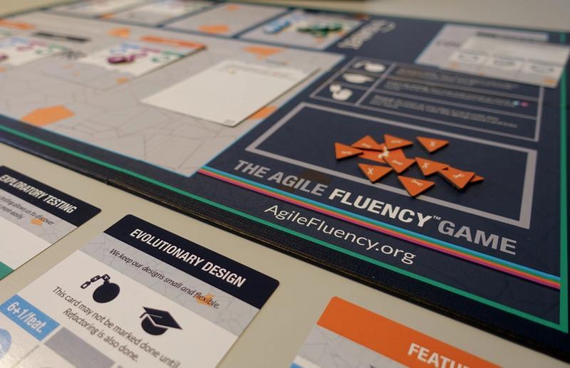 Bild des Agile Fluency Game Spielfelds