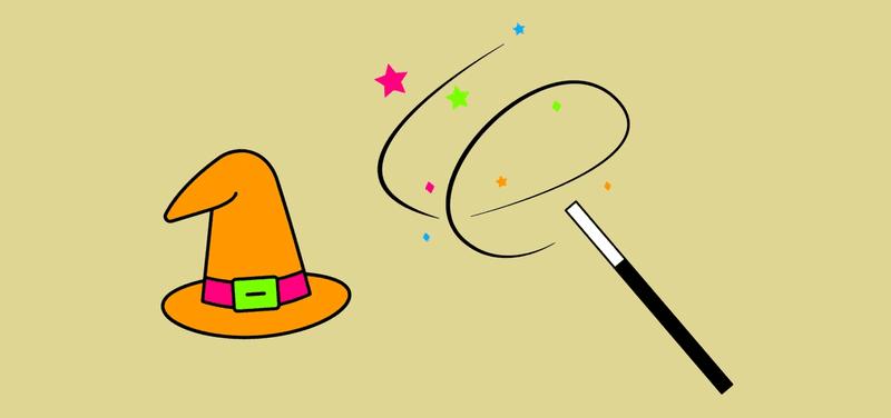 Illustration eines Zauberhuts