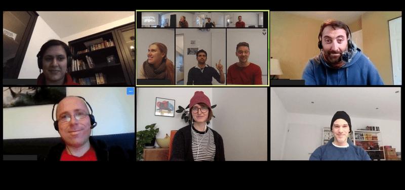 Bild der Teilnehmer eines Remote-Meetings