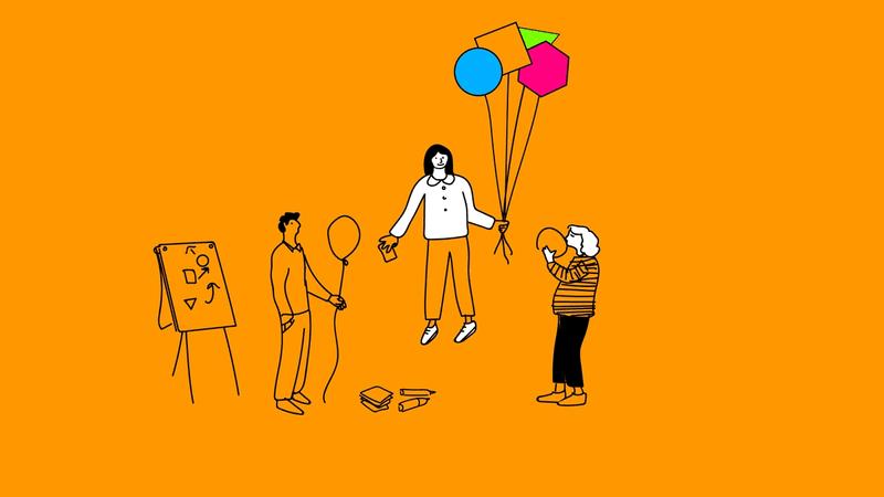 Illustration von drei Menschen