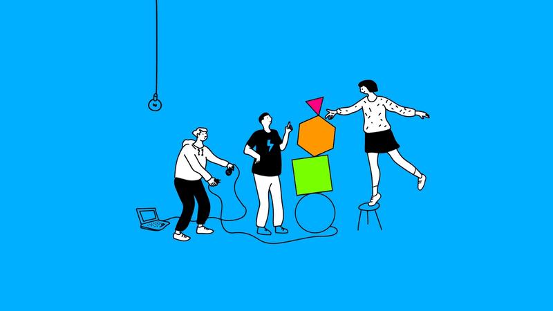 Illustration eines Softwareentwicklers