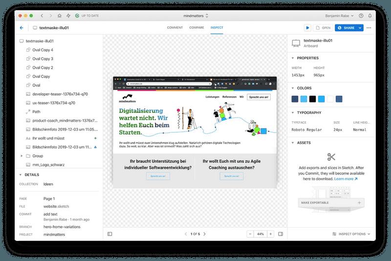 Screenshot des Tools Abstract