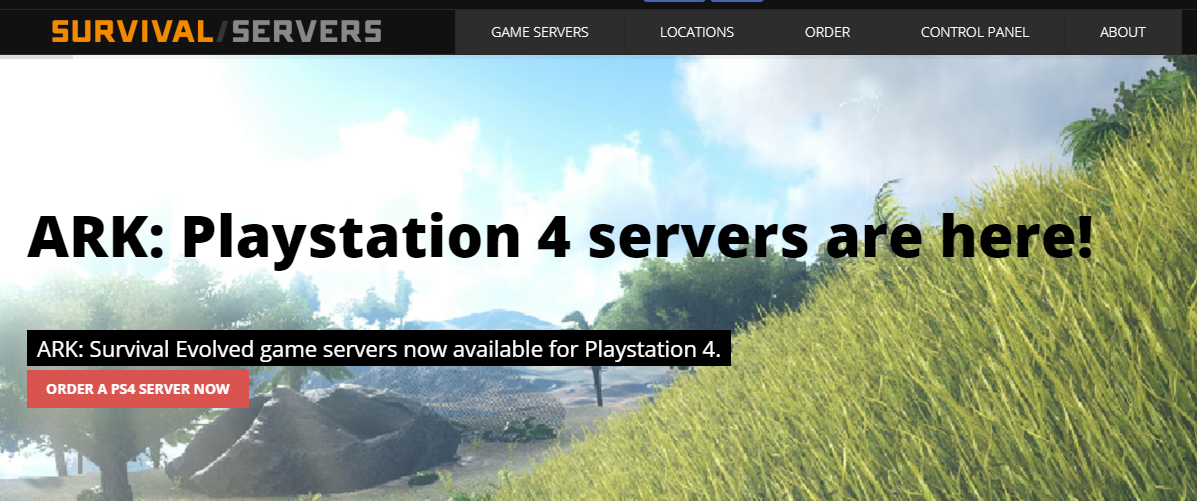 """<a href=""""/go/survivalservers"""">Survival Servers</a> were among the first hosting companies to offer PS4 ARK server rentral"""