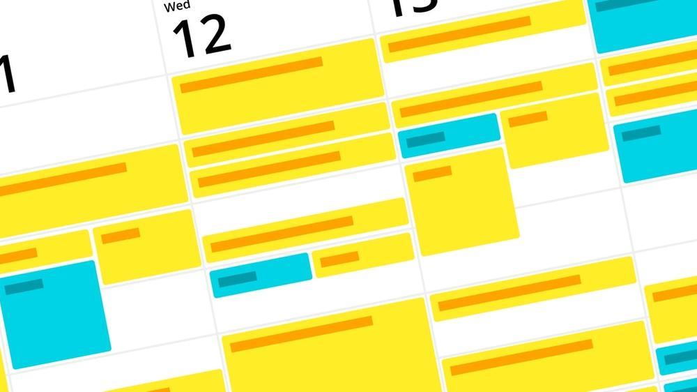 Illustration of weekly calendar