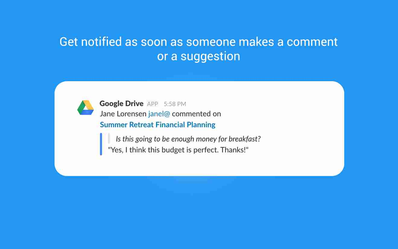 Collaboration tools for Slack – Google Drive