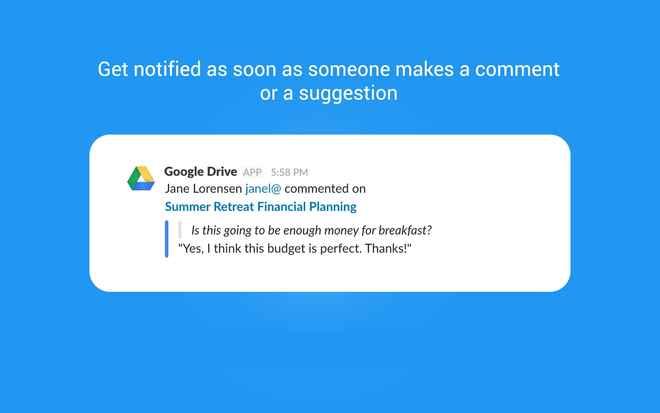 Collaboration tools for Slack – Google Drive