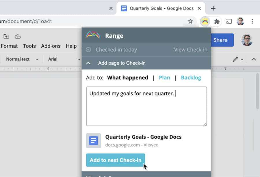 Save time with Range Sync for Chrome