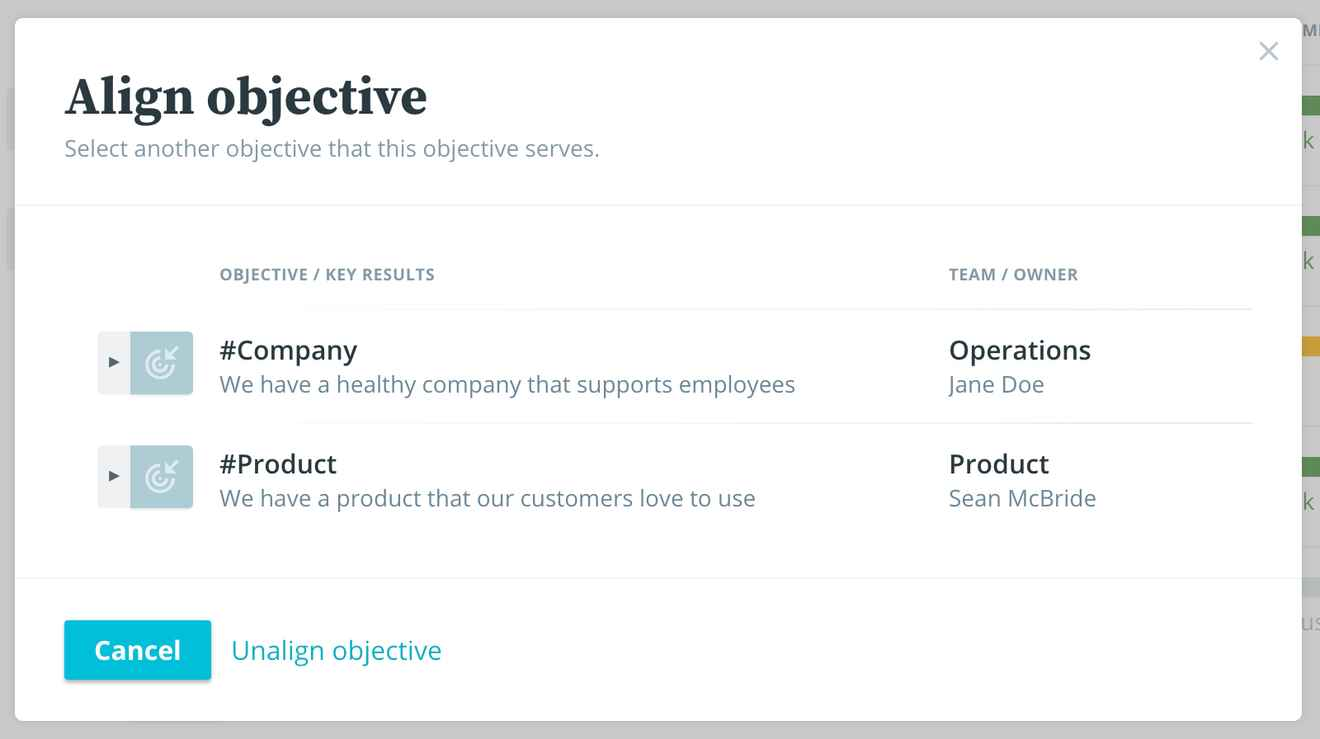How to get aligned on your team objectives