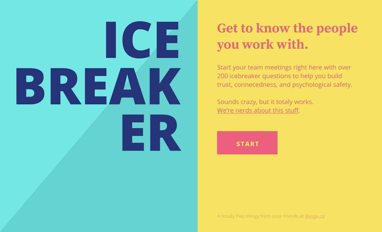 Range Icebreaker summary card