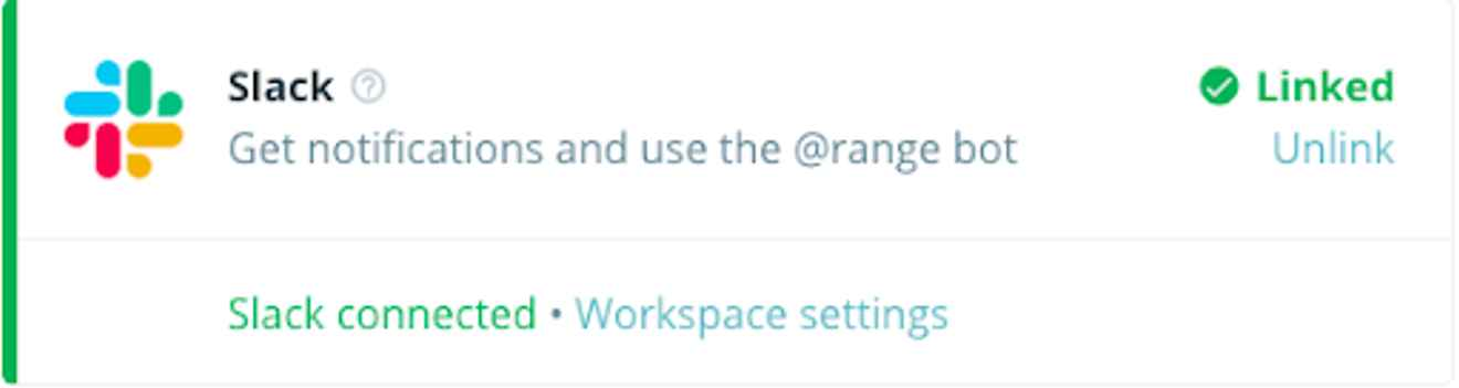 Connecting our Slack integration to Range