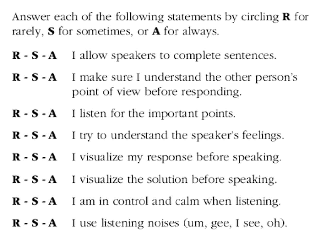Jeffrey Gitomer, Listening survey