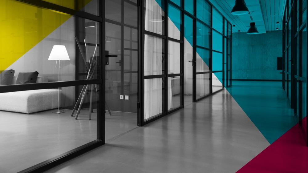 An beautiful empty office