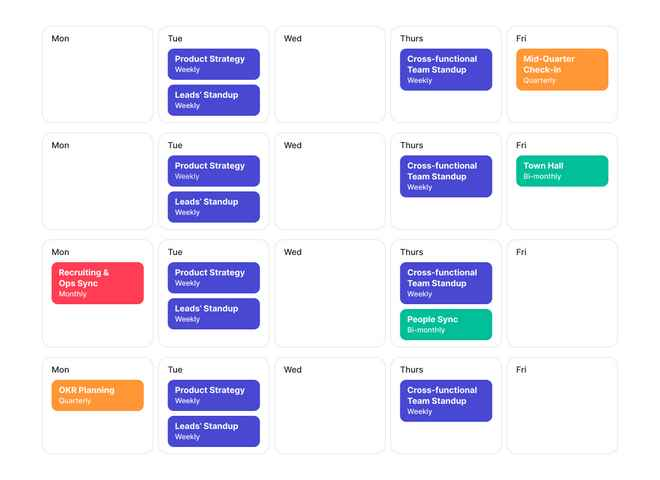 Image of calendar for Help Scout teams