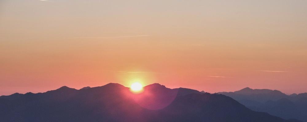 A mountain sunrise