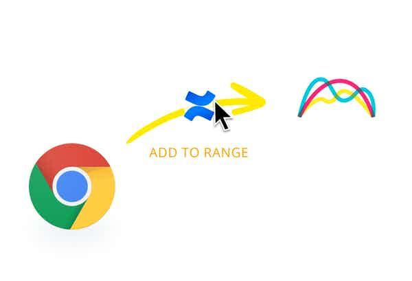 Colorful icon shape