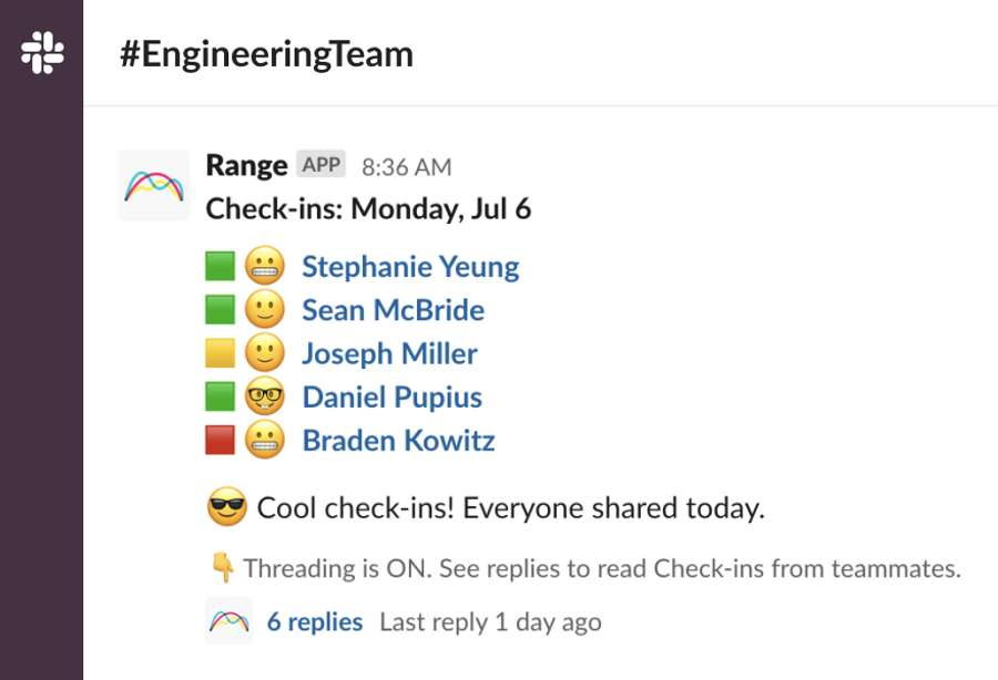 Build culture every day with moods and team questions