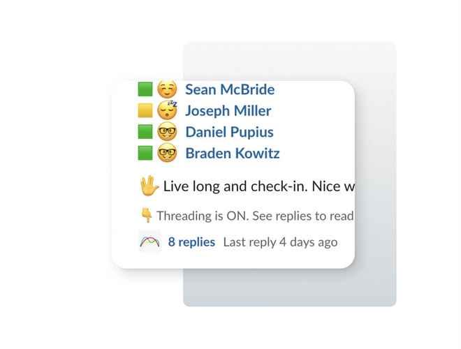 Slack design showing context block pointing at a Slack UI element