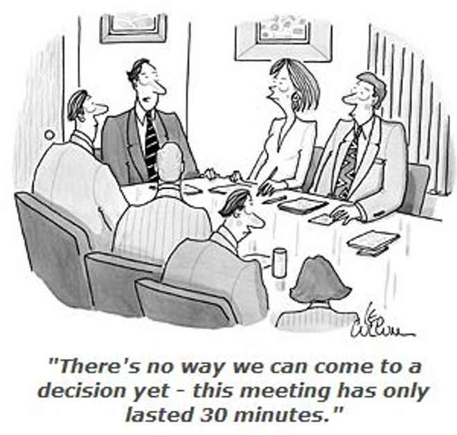 Bad meeting cartoon